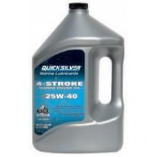 Минеральное масло Quicksilver 25W-40 для бензиновых двигателей MerCruiser, 4 л, 8M0086224