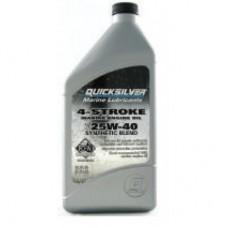 Полусинтетическое масло Quicksilver 25W-40 для бензиновых двигателей Mercury и MerCruiser, 1 л, 8M0086226